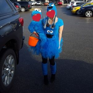 Other - Mom and baby cookie monster costume